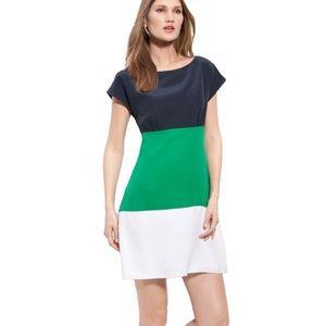 ELIZA J Colorblock Silk Crêpe de Chine Dress 4